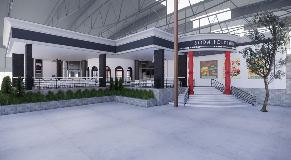 Behind the scenes look at the future Soda Fountain Restaurant at the St. Louis Union Station Family Entertainment Complex in St. Louis, Missouri.