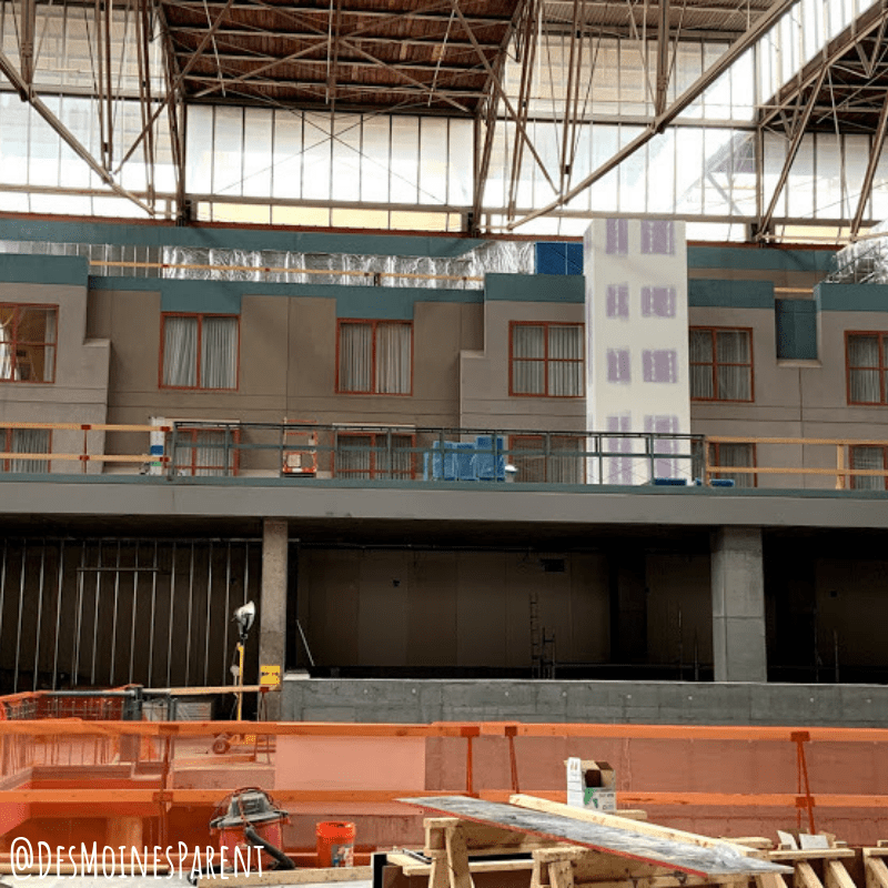 Future hotel rooms that overlook the St. Louis Aquarium at St. Louis Union Station Family Entertainment Complex in St. Louis, Missouri.