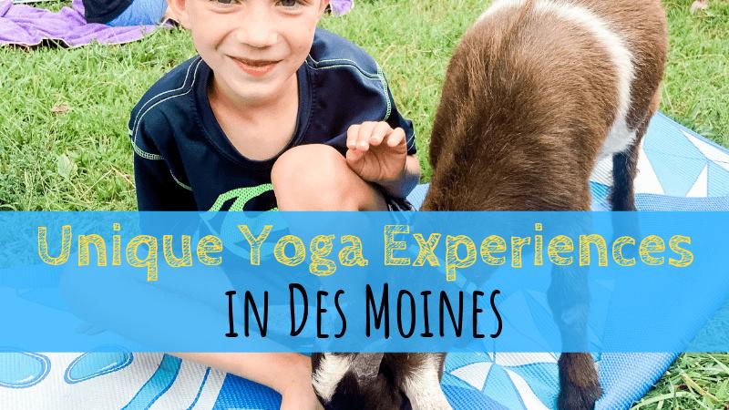 Unique Yoga Experiences in Des Moines