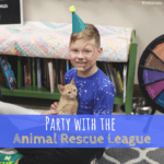 Des Moines, Iowa, Animal Rescue League of Iowa, Birthday party, party, animals
