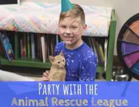 Des Moines, Iowa, Animal Rescue League of Iowa, Birthday party, party, animals