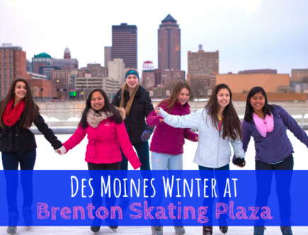 Winter, Des Moines, Iowa, ice skating, Brenton Skating Plaza, downtown Des Moines