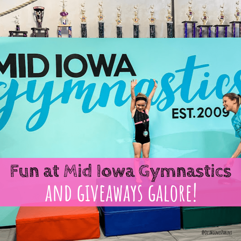 Fun at Mid Iowa Gymnastics + Giveaways Galore!