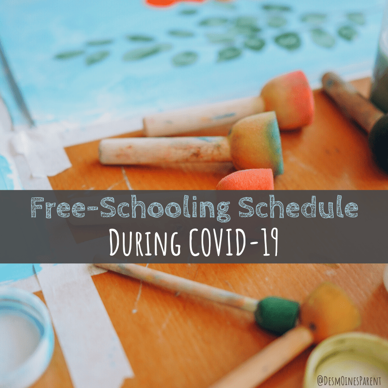 Free-Schooling Schedule During COVID-19