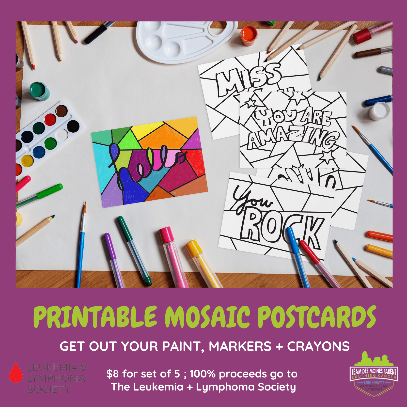 LLS | Printable Mosaic Cards