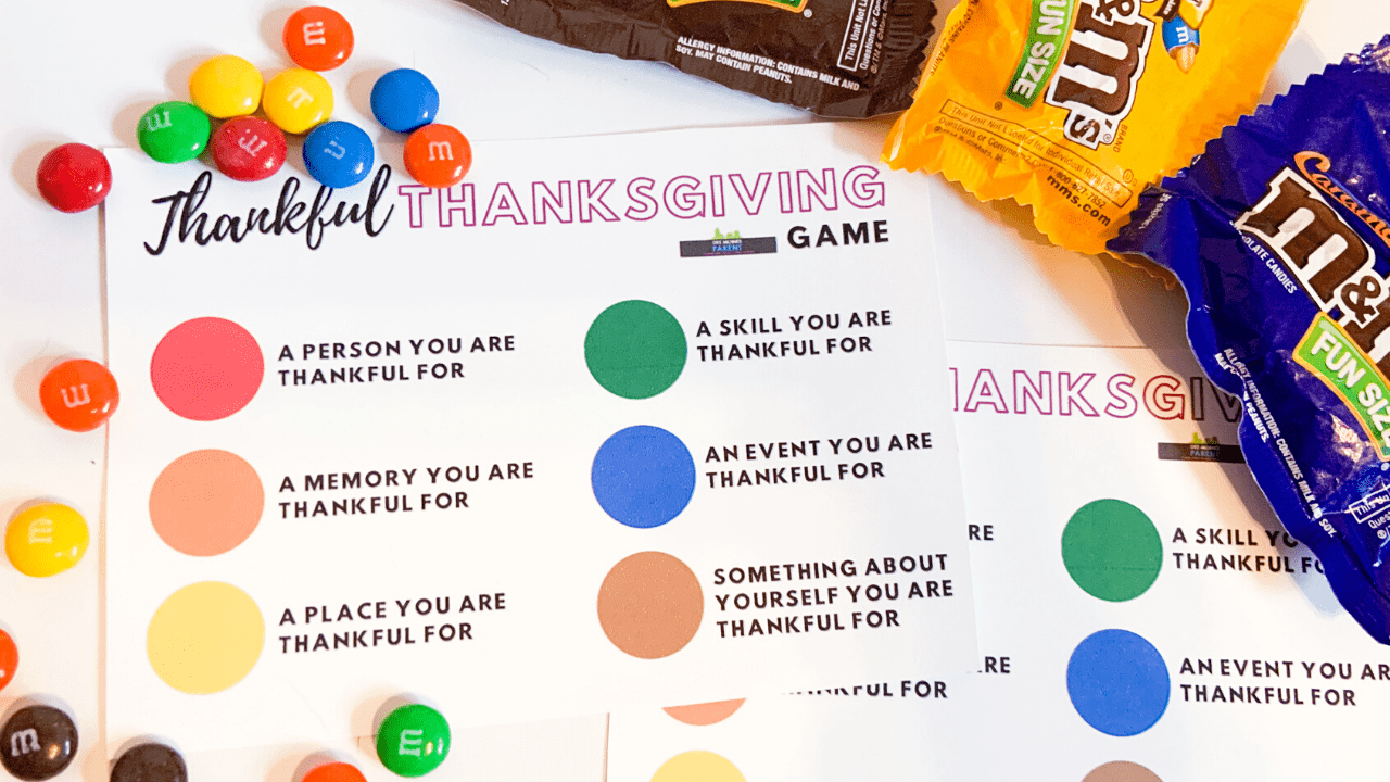 Thankful Thanksgiving Game + {{Printable}}
