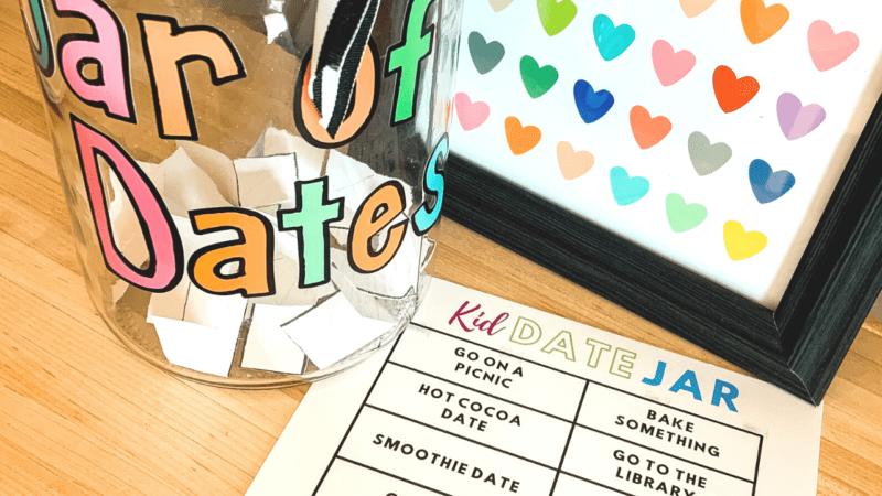 Kid Date Jar with Free Printable