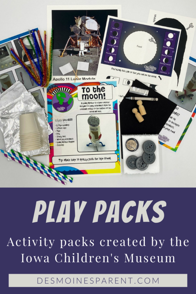 Play Packs, activity packs, Iowa Children's Museum, Iowa, activity kids, screen free ideas, kids activities