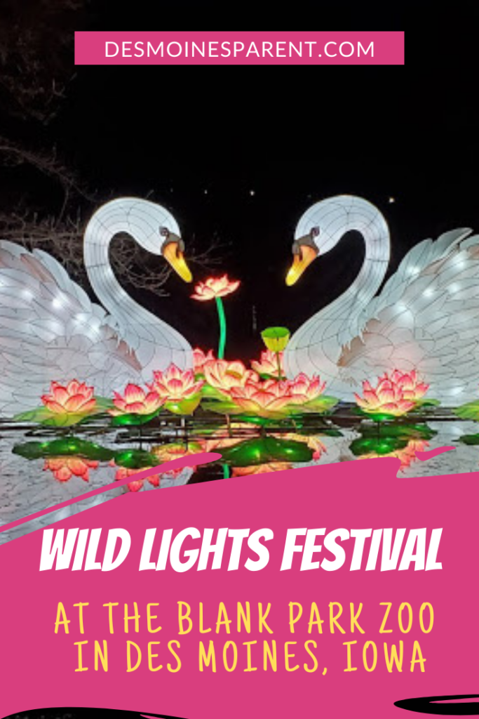 Wild Lights Festival, Blank Park Zoo, Midamerican Energy, Des Moines, Iowa, things to do, outdoor fun, family fun