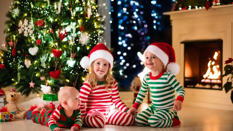 Holiday Pajama Set for the Whole Family